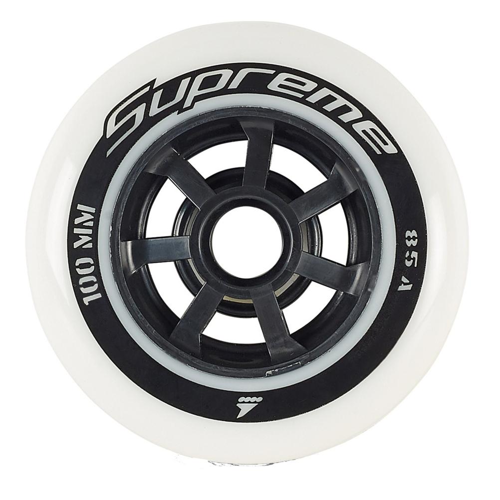 Rollerblade Supreme 100mm 85A Inline Skate Wheels - 6 Pack 2019