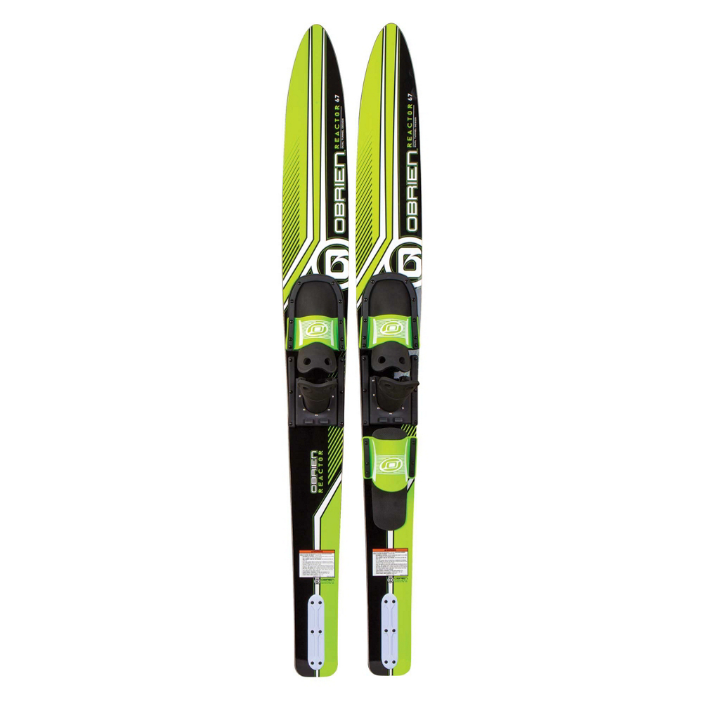 O'Brien Reactor Combo Water Skis With 700 Adjustable Bindings 2019