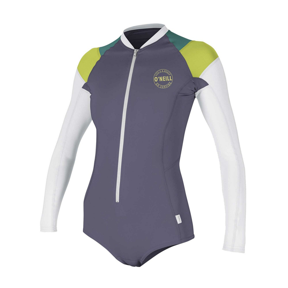 O'Neill Front Zip Long Sleeve Surf Womens Rash Guard