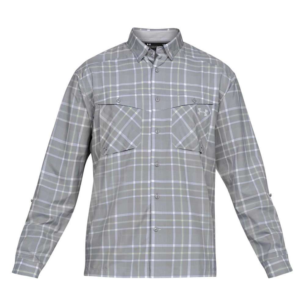 Under Armour Tide Chaser Long Sleeve Plaid Mens Shirt