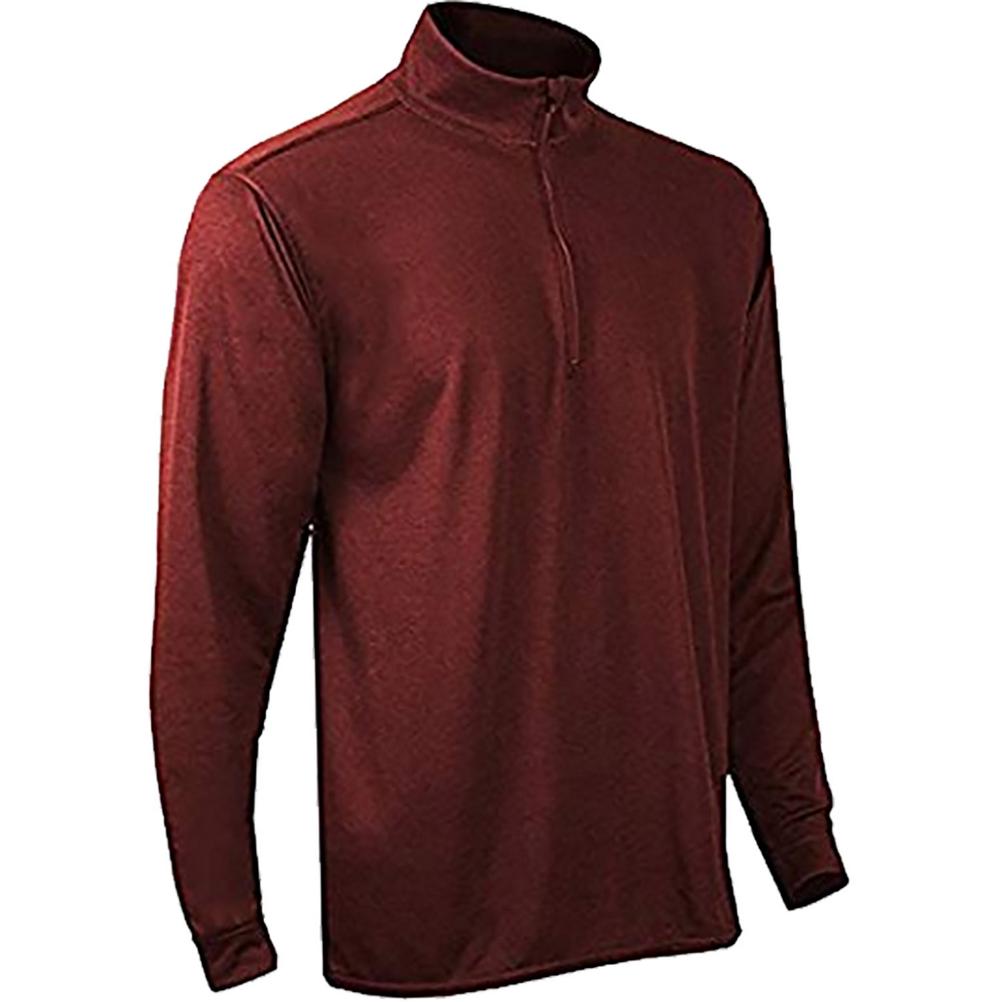 PolarMax Double Layer Mock Zip Mens Long Underwear Top