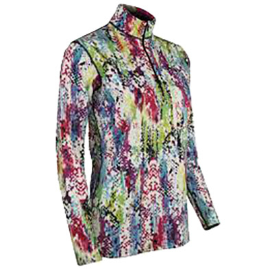 PolarMax LIFE Marcie Print Mock Zip Womens Long Underwear Top