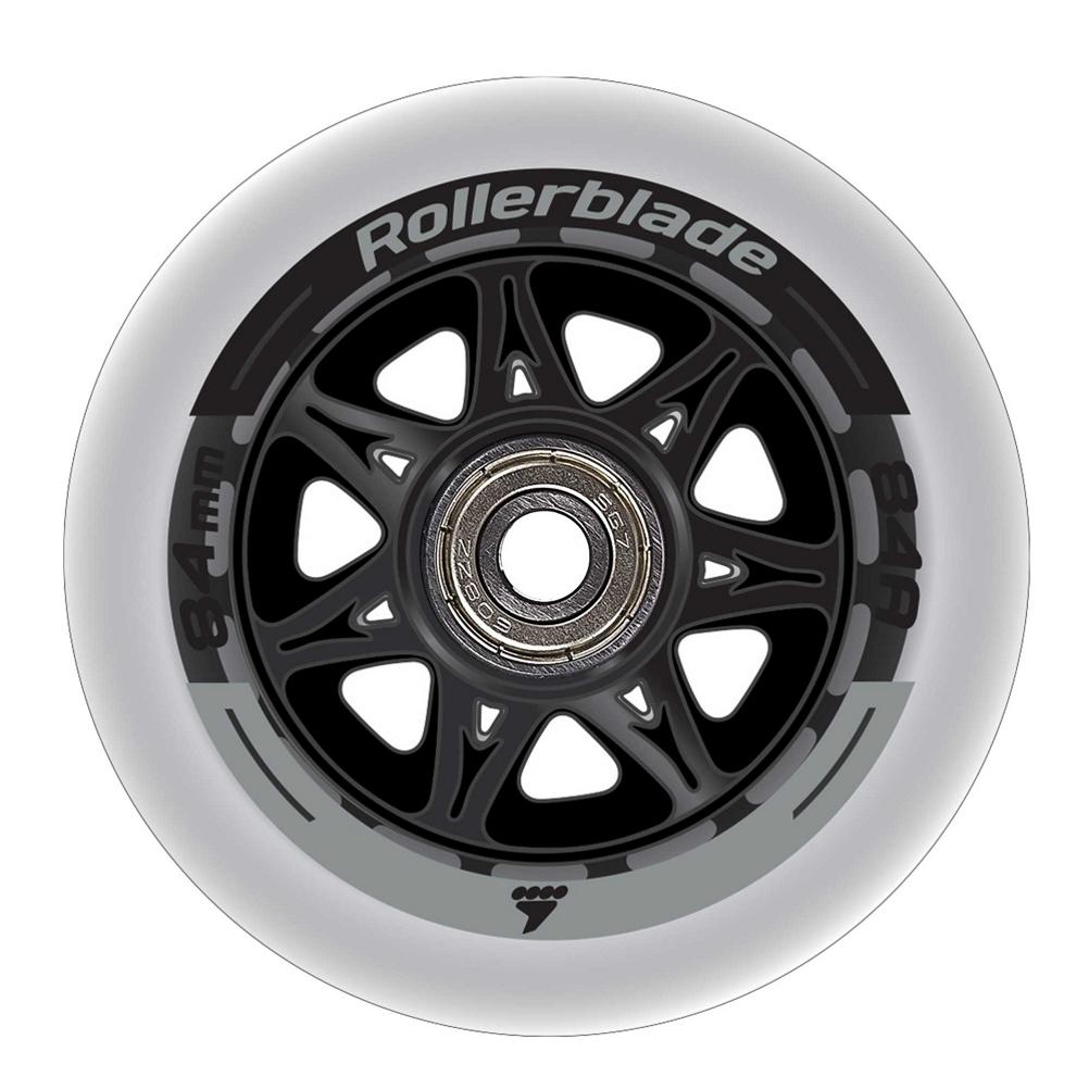 Rollerblade 84mm/84A Inline Skate Wheels with SG7 Bearings - 8pack 2020