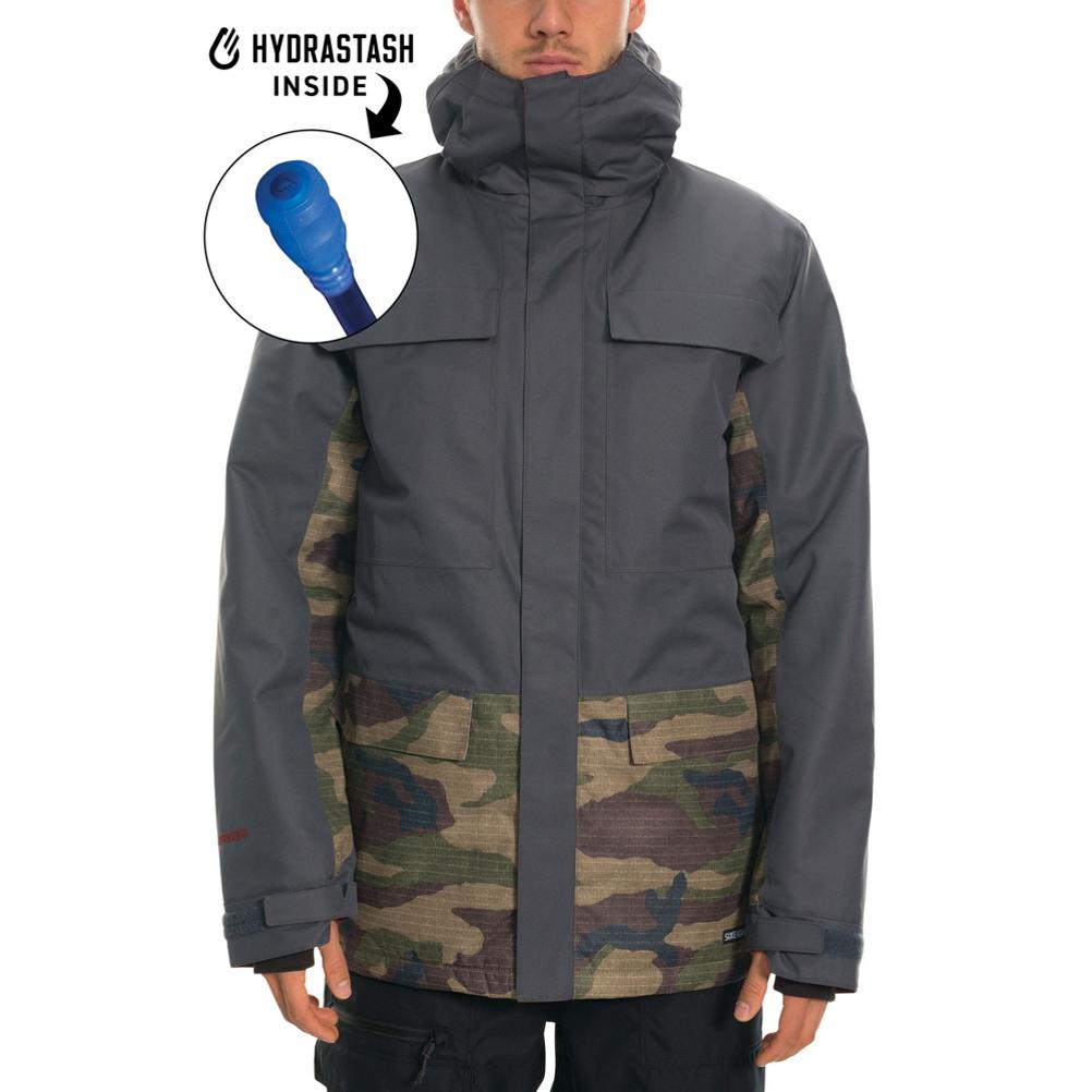 686 Hydrastash Canteen Mens Insulated Snowboard Jacket