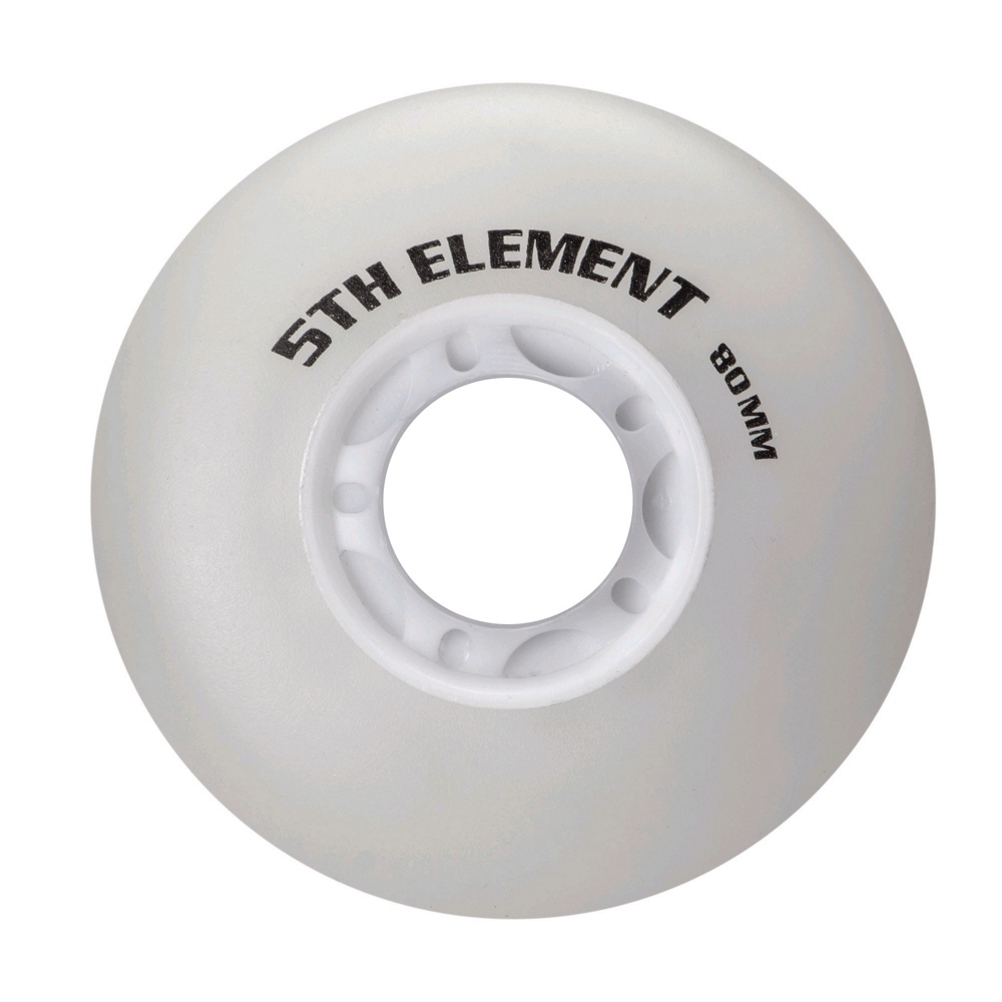 Image of 5th Element 80mm Light Up Inline Skate Wheels with Bearings - 8 Pack
