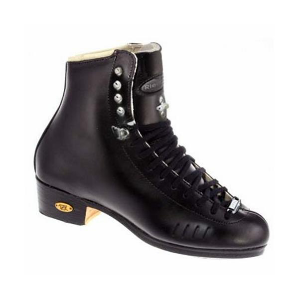 Riedell Black Elite HLS 150J Boys Figure Skate Boots