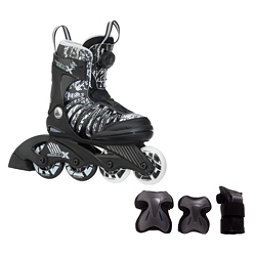 K2 SK8 Hero X Boa Boys Inline Skates with Flash Plus Jr Pads, , 256