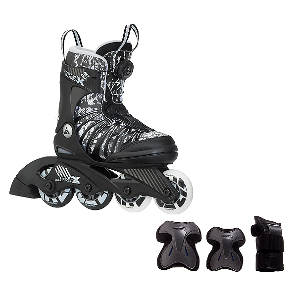 K2 SK8 Hero X Boa Boys Inline Skates with Flash Plus Jr Pads, , 600