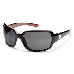 SunCloud Cookie Polarized Sunglasses, Black Backpaint-Gray Polarized, 256