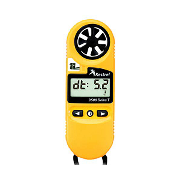 Kestrel 3500DT Pocket Weather Meter, Yellow, 600