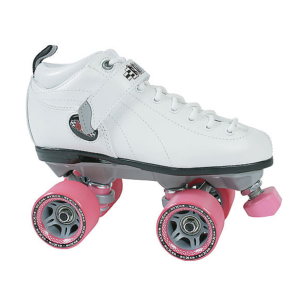 Sure Grip International Boxer Womens Speed Roller Skates, Boot:White Frame:Gray Wheels:Pink, 600