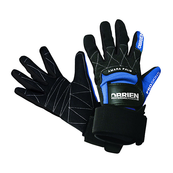 O'Brien Pro Water Ski Gloves, Blue-Black, 600