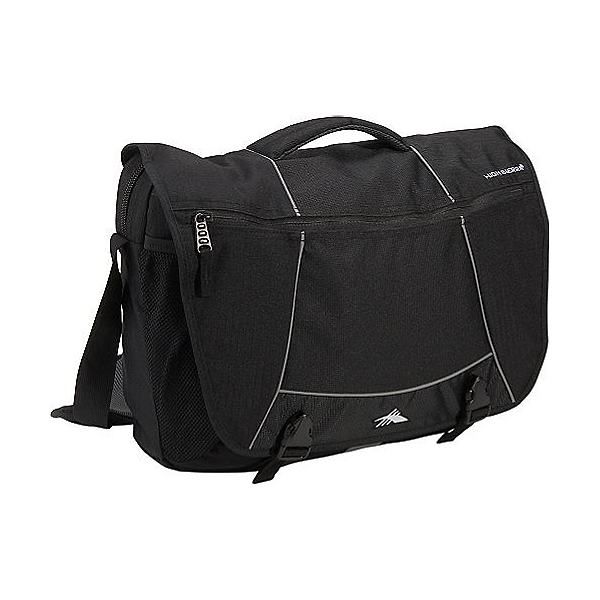High Sierra Tank Messenger Day Bag, Black, 600