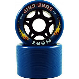 Sure Grip International Zoom Roller Skate Wheels - 8 Pack, Blue, 256