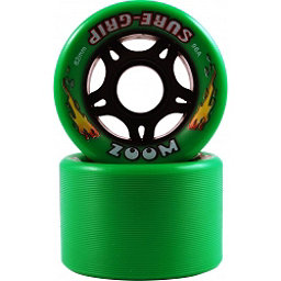 Sure Grip International Zoom Roller Skate Wheels - 8 Pack, Green, 256