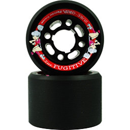 Sure Grip International Fugitive Roller Skate Wheels - 8 Pack, Black, 256