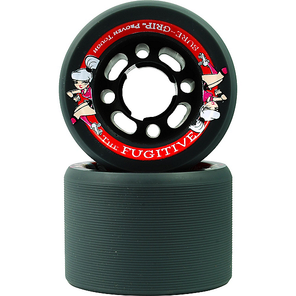 Sure Grip International Fugitive Roller Skate Wheels - 8 Pack, Grey, 600