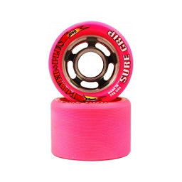 Sure Grip International Power Plus Roller Skate Wheels - 8 Pack, Pink, 256