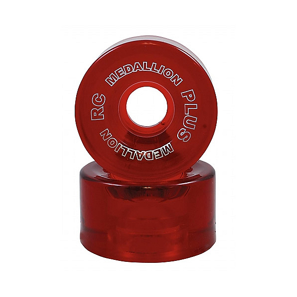 RC Medallion Plus Roller Skate Wheels - 8 Pack, Red, 600