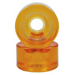 RC Medallion Plus Roller Skate Wheels - 8 Pack, Amber, 256