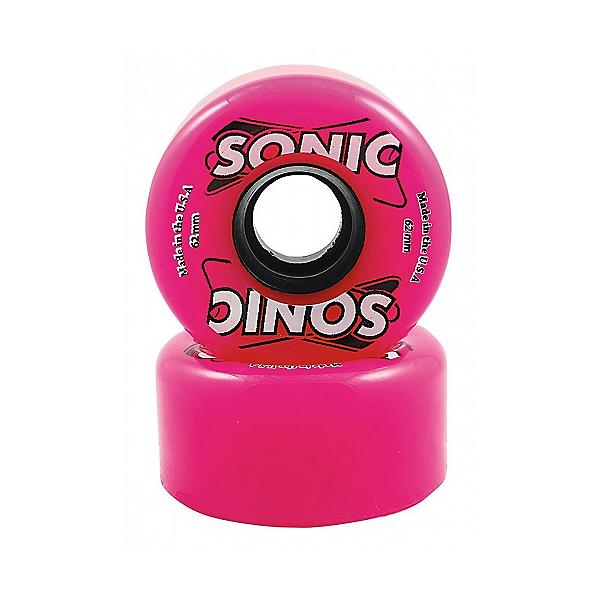 Hyper Sonic Roller Skate Wheels - 8 Pack, Pink, 600