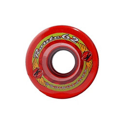 Kryptonics Route 62mm Roller Skate Wheels - 8 Pack, Clear Red, 256