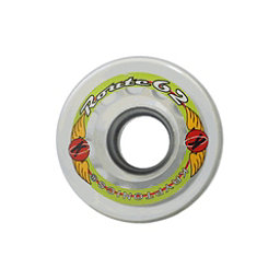 Kryptonics Route 62mm Roller Skate Wheels - 8 Pack, Clear, 256