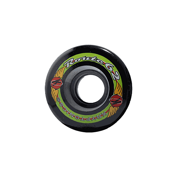 Kryptonics Route 62mm Roller Skate Wheels - 8 Pack, Black, 600