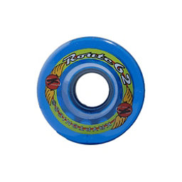 Kryptonics Route 62mm Roller Skate Wheels - 8 Pack, Clear Blue, 256