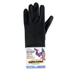 Seirus Deluxe Thermax Kids Glove Liners, Black, 256