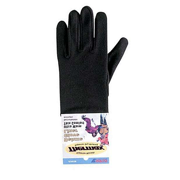 Seirus Deluxe Thermax Kids Glove Liners, Black, 600
