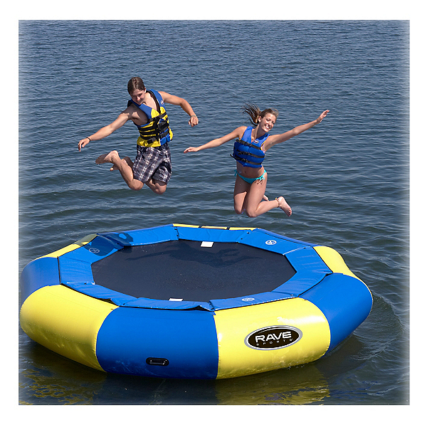 Rave Aqua Jump Eclipse 120 12 Foot Water Trampoline, , 600