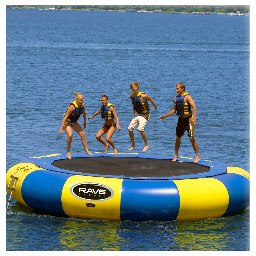 Rave Aqua Jump Eclipse 200 20 Foot Water Trampoline