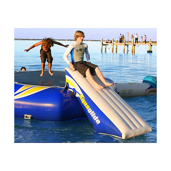 Aquaglide Platinum Rebound 12 Foot Bouncer Slide Water Trampoline Attachment, , 600