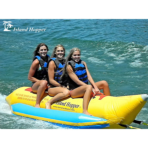 Island Hopper Recreational Banana Boat 3 Passenger Towable Tube, , 600