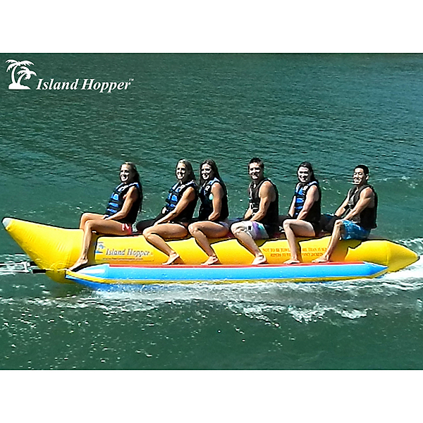 Island Hopper Commercial Banana Boat 6 Passenger Towable Tube, , 600