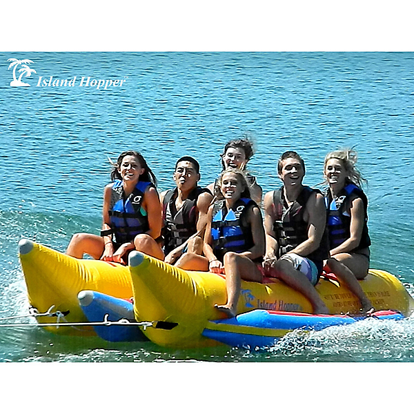 Island Hopper Commercial Banana Boat 6 Passenger Side-By-Side Towable Tube 2017, , 600
