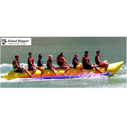 Island Hopper Commercial Banana Boat 8 Passenger Towable Tube, , 256