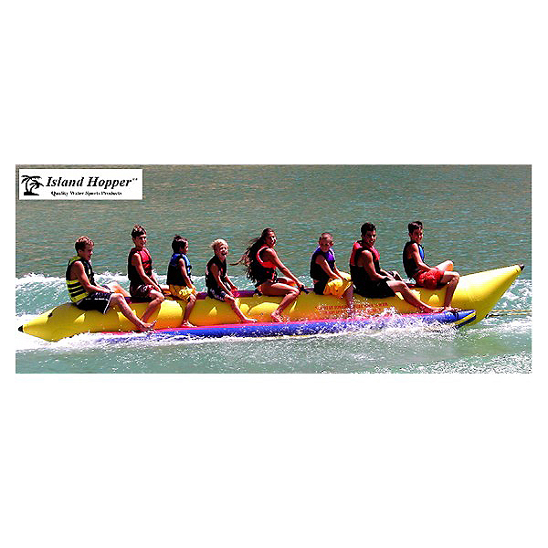 Island Hopper Commercial Banana Boat 8 Passenger Towable Tube, , 600