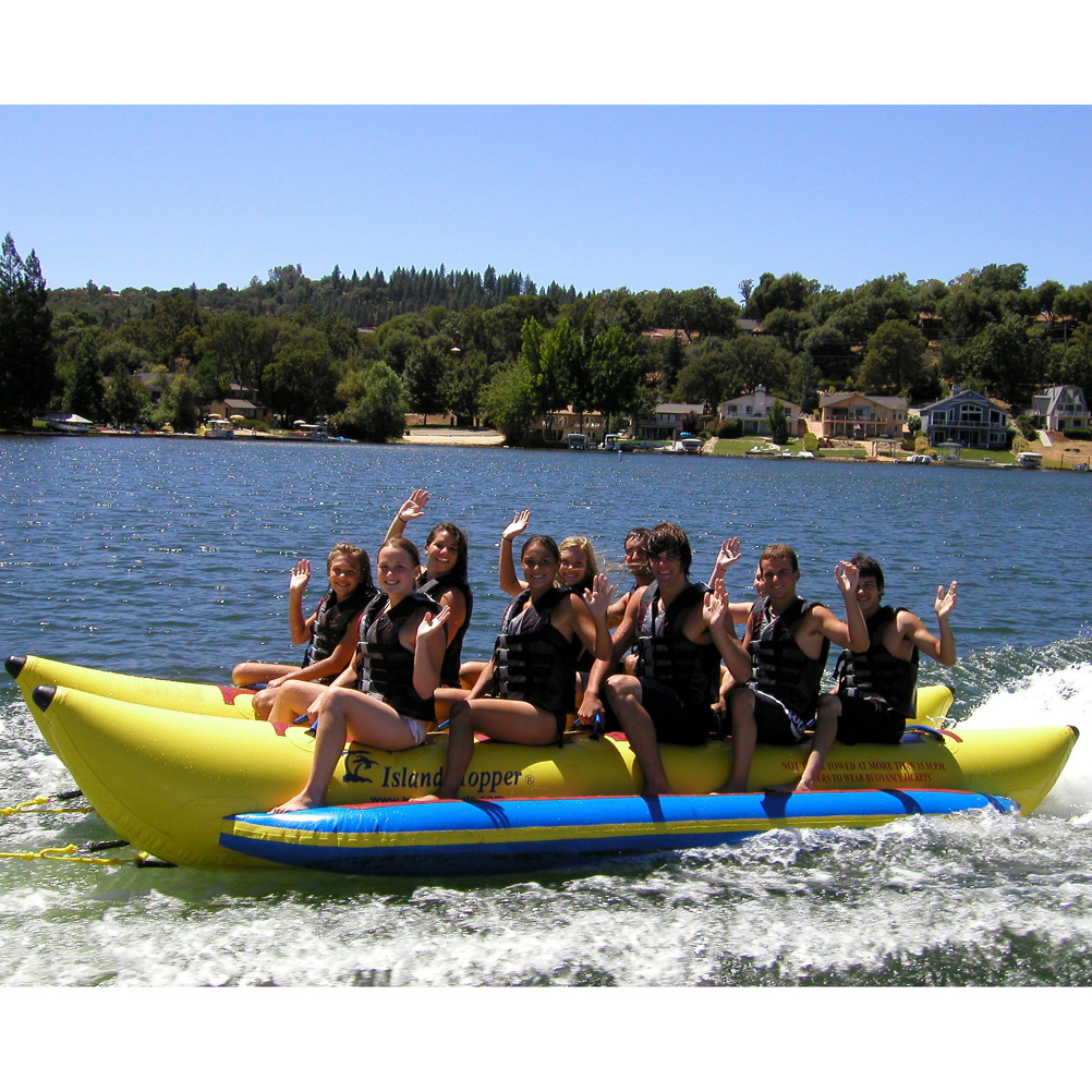Island Hopper Commercial Banana Boat 10 Passenger Side-By-Side Towable Tube