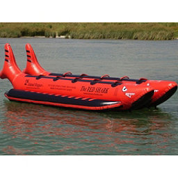 Island Hopper The Red Shark Banana Boat 10 Passenger Side-By-Side Towable Tube 2017, , 256