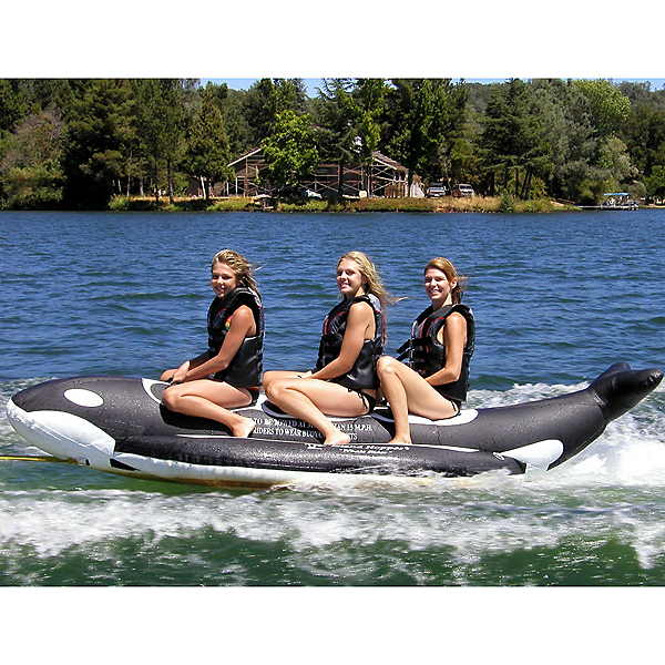 Island Hopper Whale Ride Banana Boat 3 Passenger Towable Tube, , 600