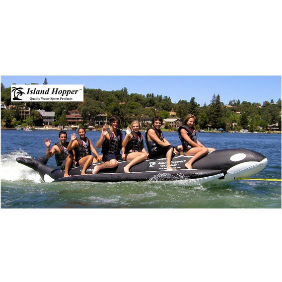 Island Hopper Whale Ride Commercial Banana Boat 6 Passenger Towable Tube