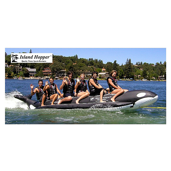 Island Hopper Whale Ride Commercial Banana Boat 6 Passenger Towable Tube, , 600