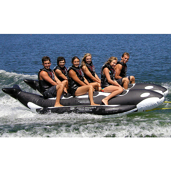 Island Hopper Whale Ride Commercial Banana Boat 6 Passenger Side-By-Side Towable Tube, , 600