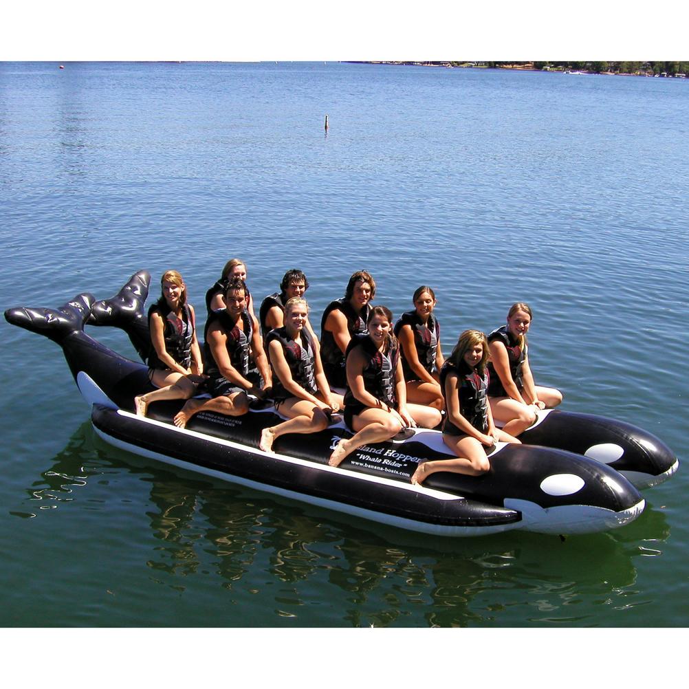 Island Hopper Whale Ride Commercial Banana Boat 10 Passenger Side-By-Side Towable Tube