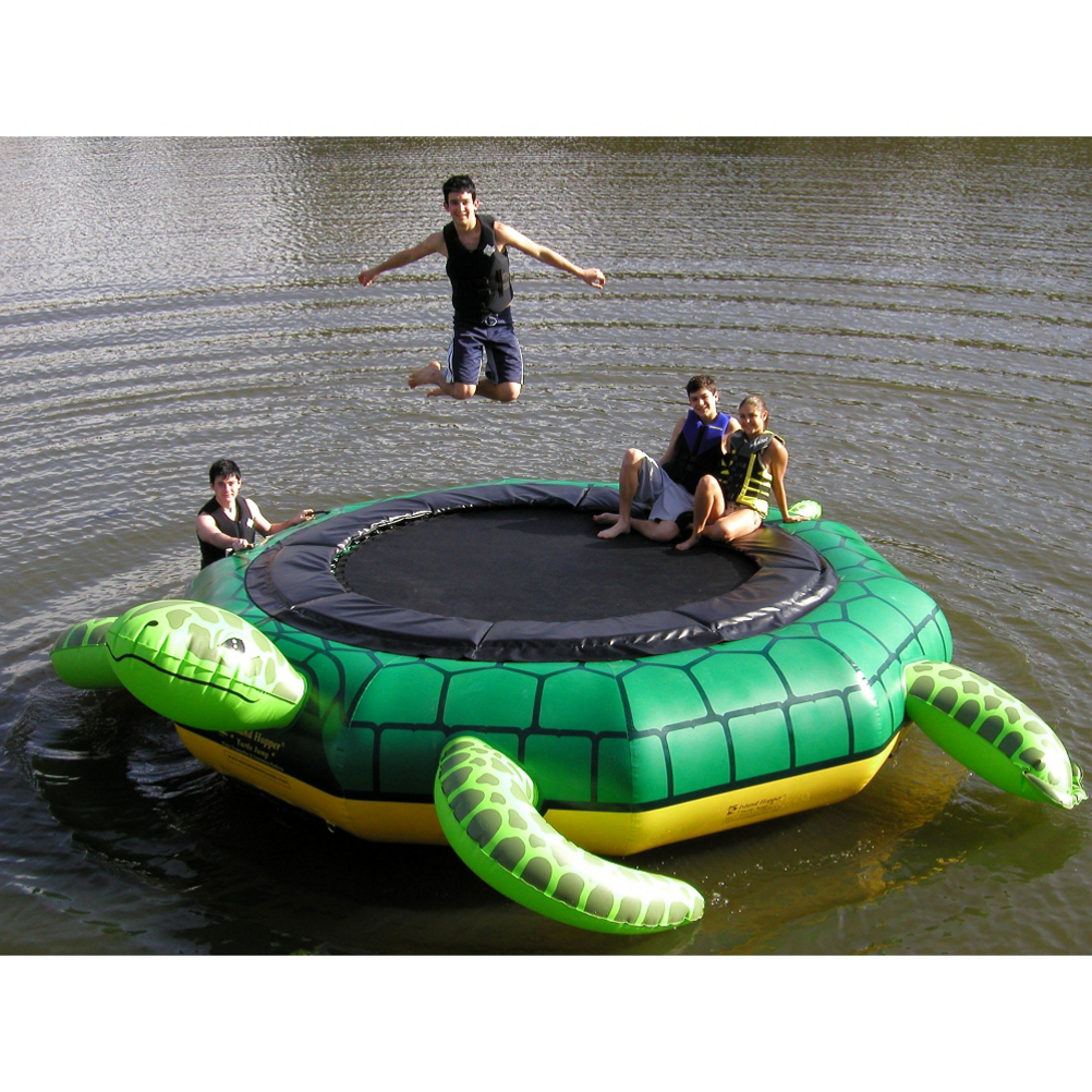 Island Hopper Turtle Jump 15 Foot Water Trampoline
