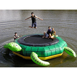 Island Hopper Turtle Jump 15 Foot Water Trampoline, , 256