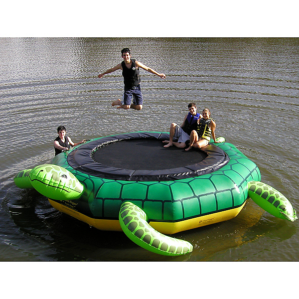 Island Hopper Turtle Jump 15 Foot Water Trampoline, , 600