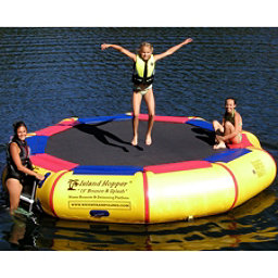 Island Hopper Bounce and Splash 13 Foot Bounce Platform, Yellow, 256